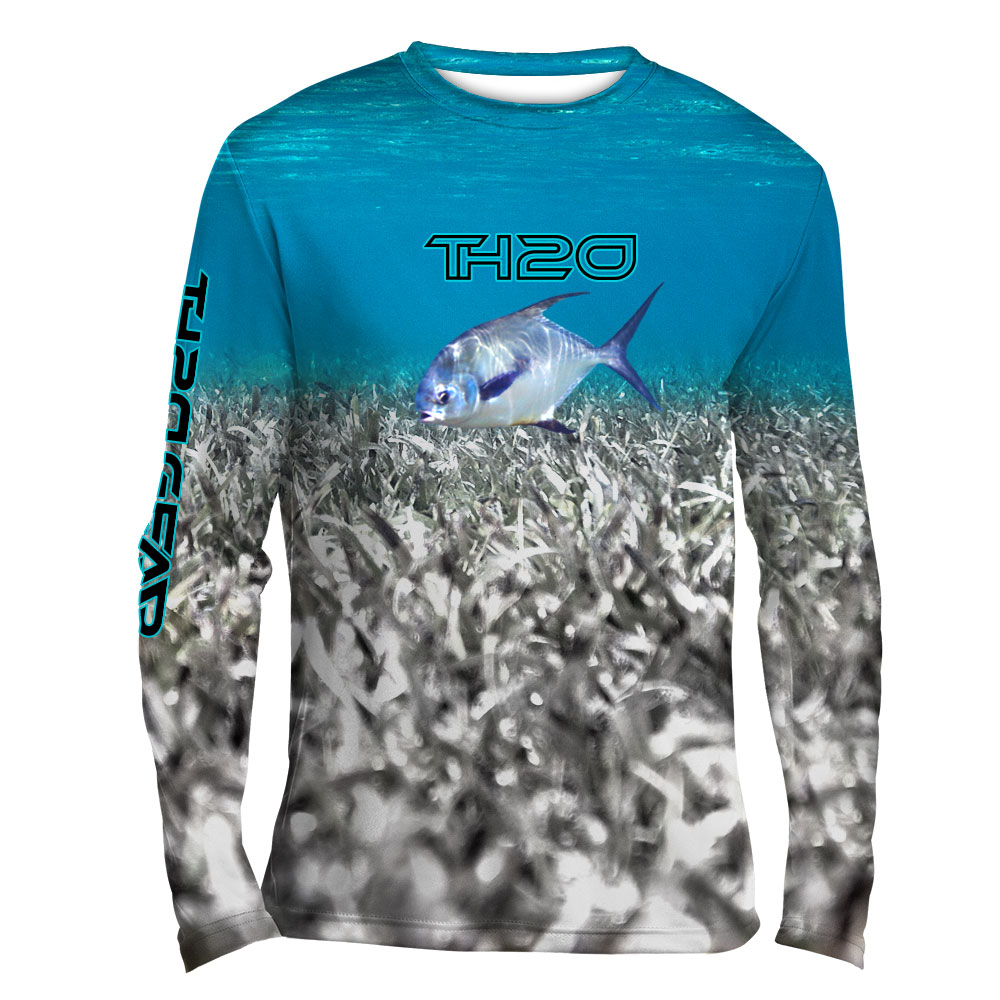 Permit performance long sleeve fishing shirt th2o gear for Under armour long sleeve fishing shirt